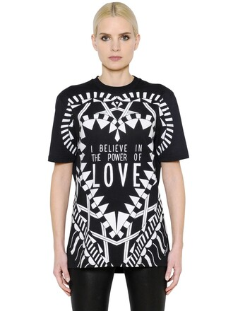t-shirt shirt love cotton black top