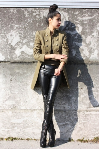 denni chic muse brown jacket coat streetstyle jacket