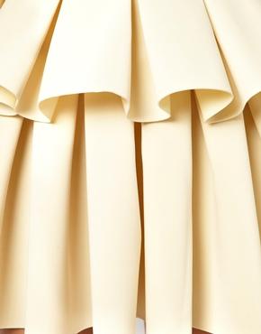 ASOS | ASOS Premium Peplum Skater Skirt In Scuba at ASOS