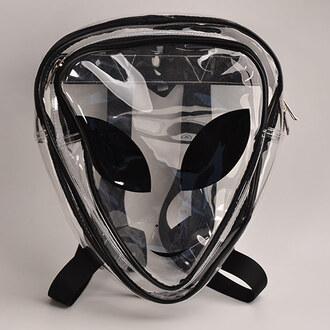 bag harajuku backpack et face bag heteromorphism bag transparent backpack