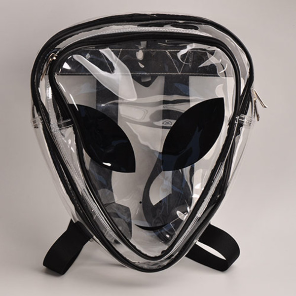 bag harajuku backpack et face bag heteromorphism bag transparent backpack