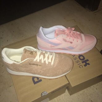 shoes reebok pink trainers court classic suede snake print girls sneakers sneakers