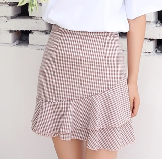 skirt fishtail fishtail skirt checkered pattern black and white