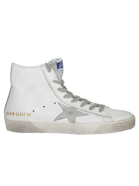 Golden goose sneakers silver white shoes