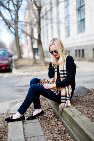 kelly in the city - a preppy chicago life style and fashion blog blogger shoes bag scarf jewels hat loafers clutch animal print