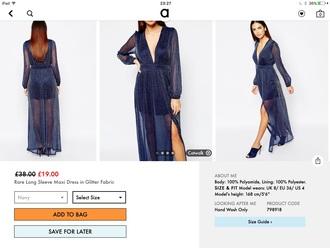 dress glitter dress maxi dress evening dress sexy dress