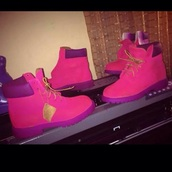 shoes,timberlands,pink,purple shoes,timberlands boots,purple,timberland,boots