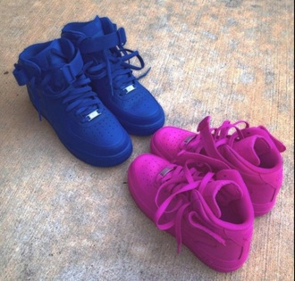 shoes nike air force 1 pink shoes blue shoes nike air