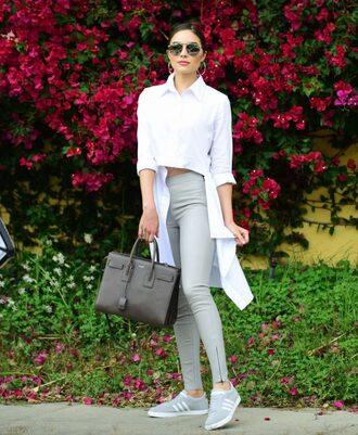 shirt purse sneakers olivia culpo bag