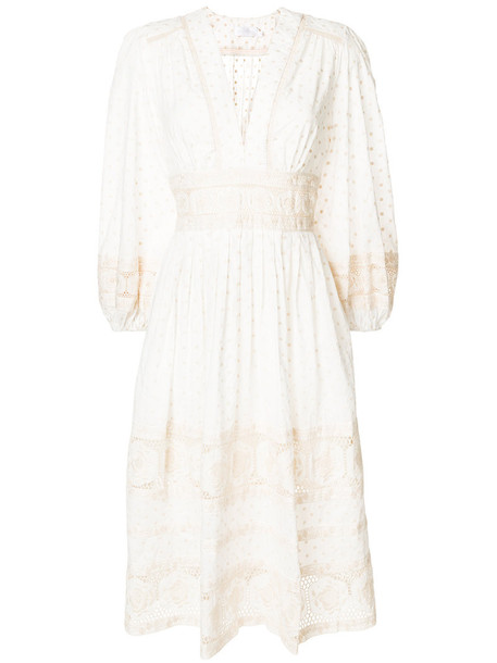 Zimmermann dress day dress women white cotton