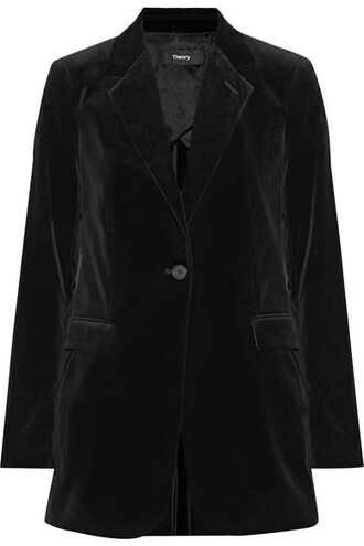 blazer cotton black velvet jacket