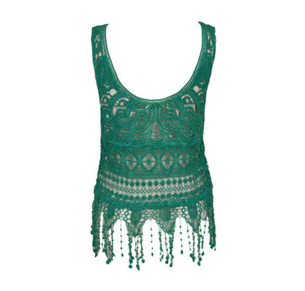 top vest summer outfits streetstyle stylemoi hipster hippie forest green lace