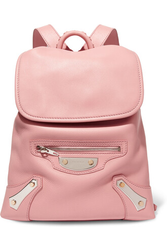 backpack leather backpack leather baby pink baby pink bag