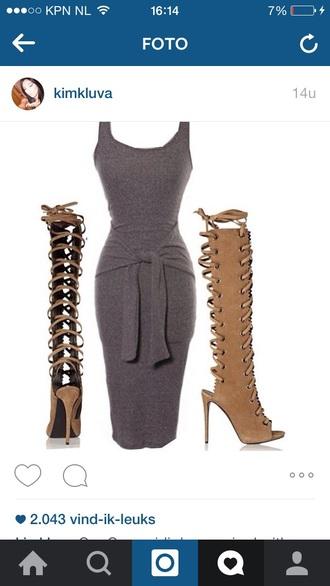 dress grey dress kylie jenner kim kardashian dress