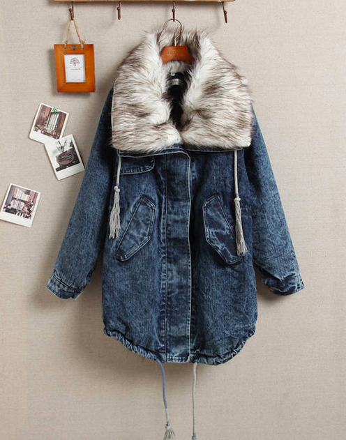 Denim Wadded Jacket