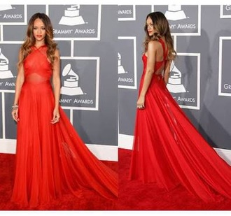 dress rihanna red dress rihanna gown red dress red carpet dress