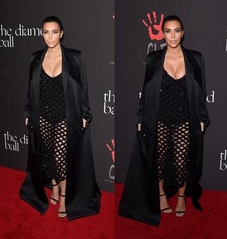 kim kardashian mesh coat sandals