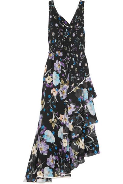 3.1 Phillip Lim dress maxi dress maxi floral print black silk