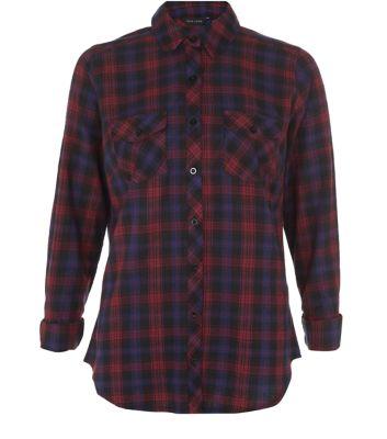 Blue Long Sleeve Check Shirt