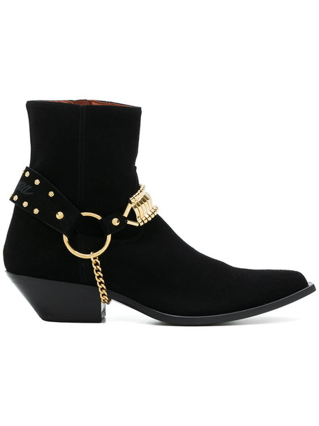 SONORA women ankle boots leather black shoes
