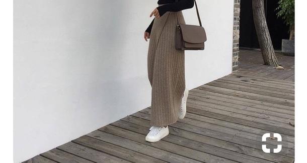 pants flowy beige brown