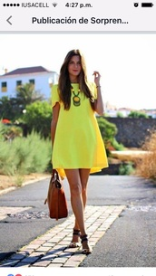 dress,yellow dress,neon,yellow,bright
