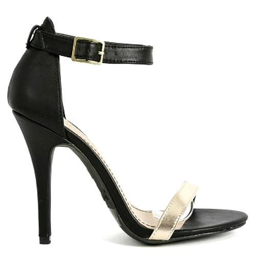 01 black gold open toe pump stiletto heel