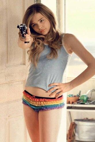 tank top hick film blue shirt movies chloe grace moretz underwear
