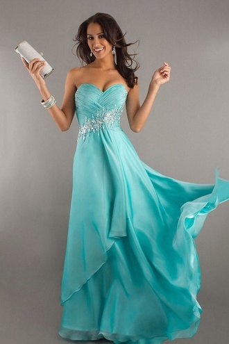 prom homecoming gown aqua homecoming dress prom dress sparkle