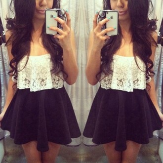blouse skater skirt