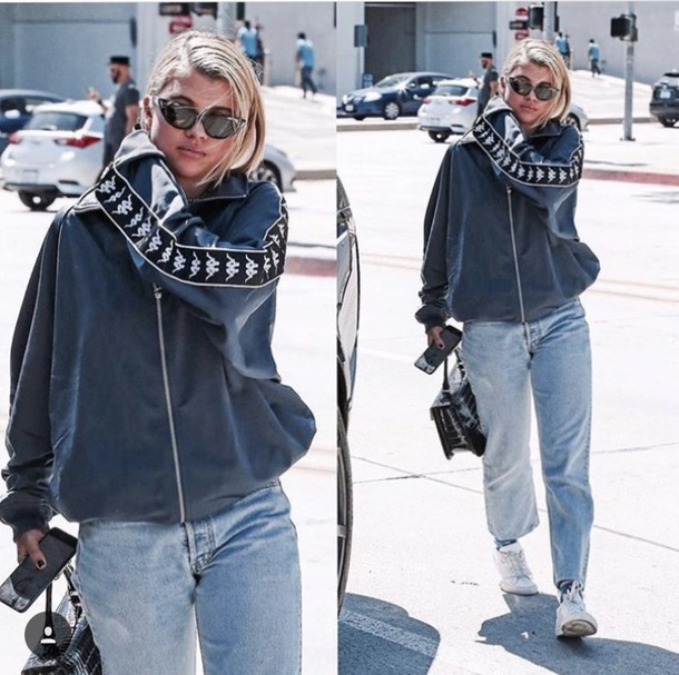 jacket blue sofia richie kappa