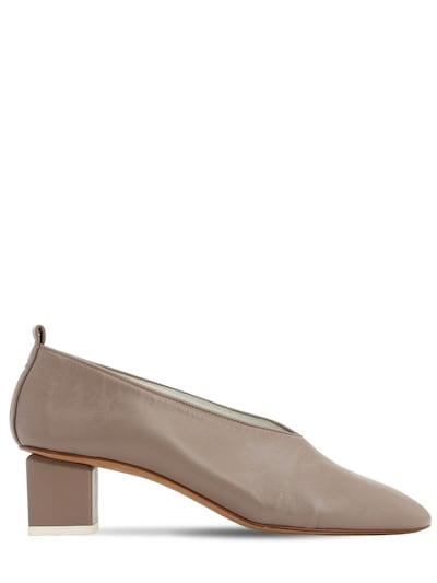 GRAY MATTERS 40mm Mildred Leather Pumps Taupe