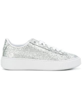 glitter women sneakers grey metallic shoes