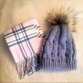 hat fur pink grey black white winter outfits wa fall outfits grey beanie