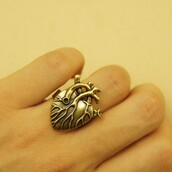 jewels,gothic heart ring,gothic ring,heart jewelry