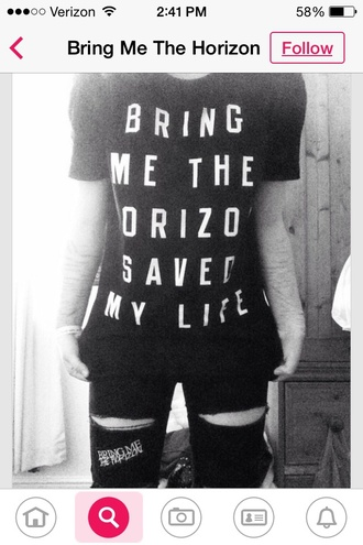 pants jeans ripped bmth bring me the horizon band merch music