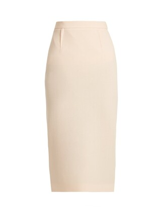 skirt pencil skirt wool light pink light pink