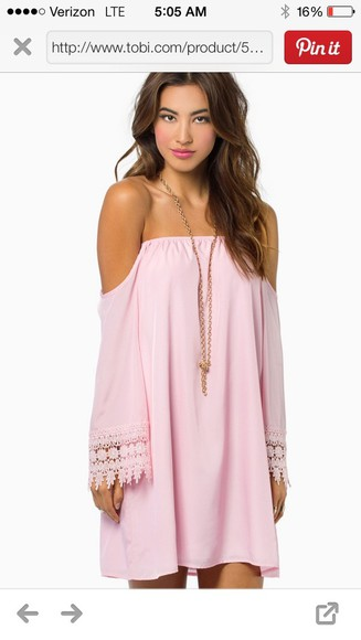 dress pink pink dress mini dress, off the shoulder, off the shoulder dress