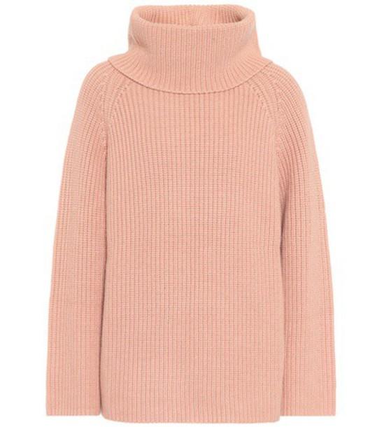 Chloe sweater turtleneck turtleneck sweater wool pink