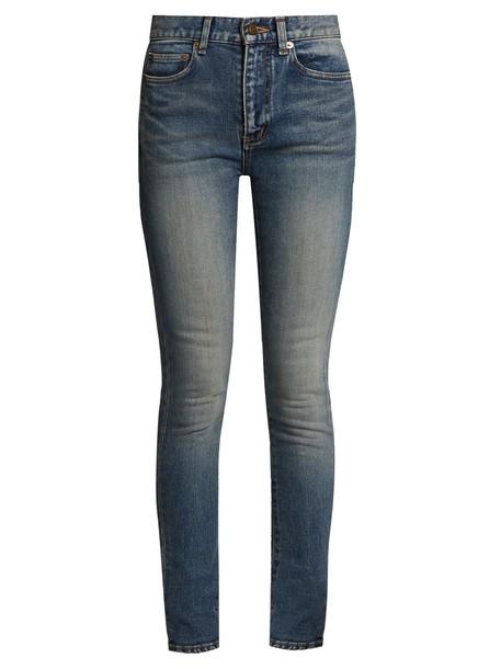 Saint Laurent jeans skinny jeans high