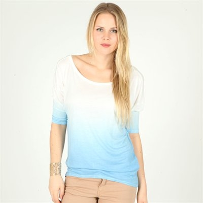 T-shirt tie & dye bleu - Collection T-shirt manches longues - Pimkie France