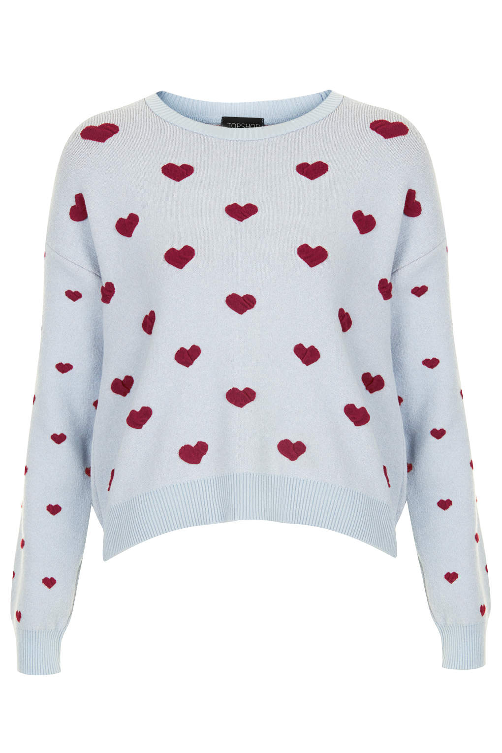 Hearts Motif Jumper - Knitwear - Clothing