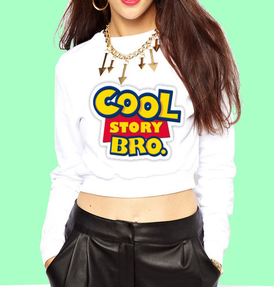toy story sweater crop tops cute white black pretty cropped shorts cropped sweater