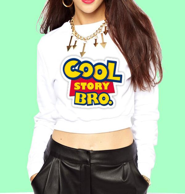 Trendkream Cool Story Bro Cropped Sweatshirt