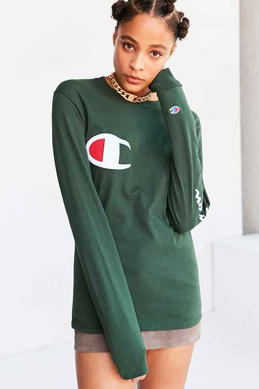 Sleeve Champion Outfitters Logo Long Tee Uo Urban zCwqCv