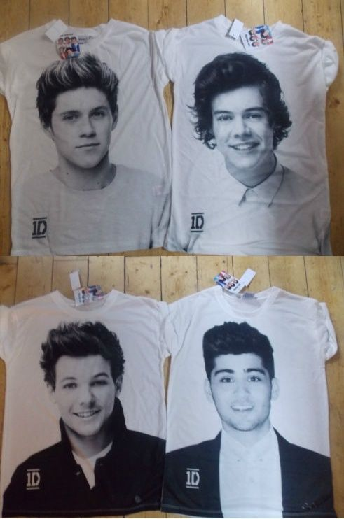 ONE DIRECTION LADIES T Shirt Tee Top 6-20 Primark HARRY STYLES or NIALL HORAN