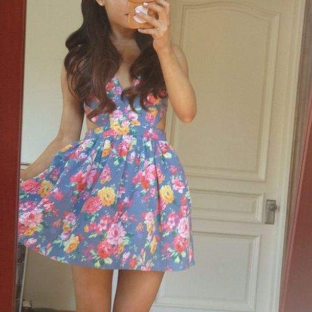 dress ariana grande ariana grande dress floral dress floral blue