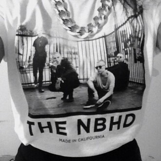 the neighbourhood t-shirt music band merch band black and white