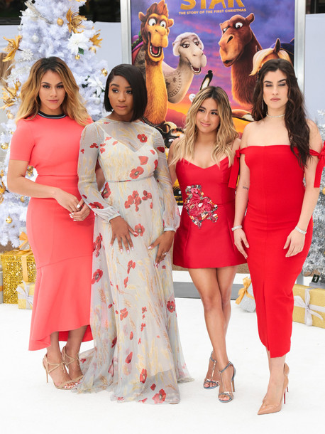dress Dinah Jane Hansen Normani Kordei Hamilton Normani Hamilton lauren jauregui Fifth Harmony Ally Brooke red dress red midi dress maxi dress floral dress mini dress