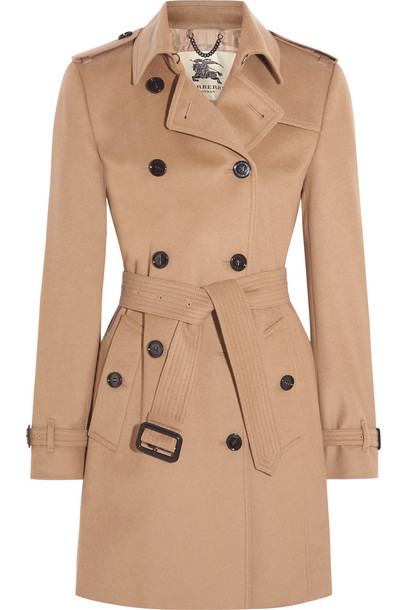 Burberry London coat trench coat wool camel